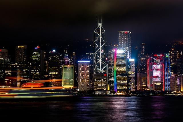 Espectáculo nocturno de Hong Kong